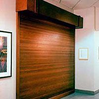 Woodfold roll up doors moynihan lumber eshowroom for Residential interior roll up doors